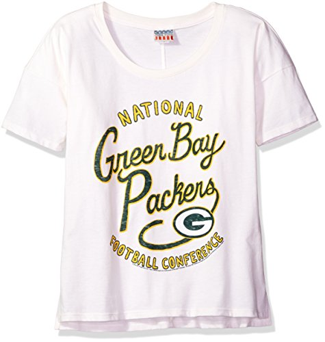 - NFL Green Bay Packers Women's Vintage Boyfriend Ss Tee, Sugar, Medium