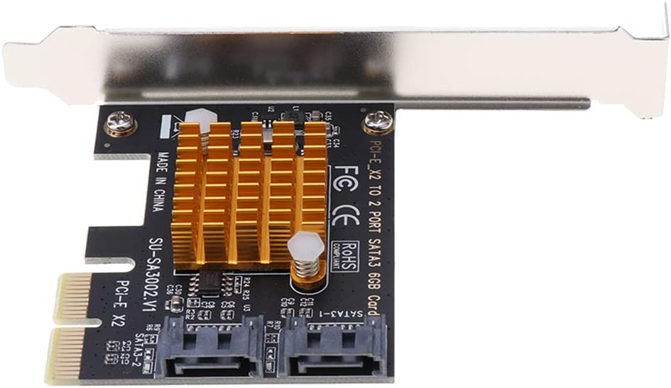 SA3002 PCI Express PCIe Hub Adapter Almencla 2 Ports USB 3.0 PCI-e Expansion Card for Windows XP//Win7//Win8//Win 10 -