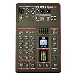 Phonic CELEUS 100 mezclador analógico con USB grabador y Bluetooth