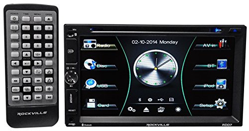 Rockville RDD7 7'' Car DVD/iPhone/Pandora/Spotify/Bluetooth/USB Player Receiver by Rockville