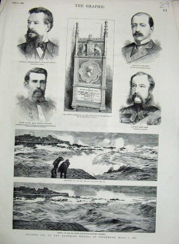 old-print Print Peterhead Oil Sea 1882 Earl Beaconsfield Church Sier 219N730 (Oil Sier)