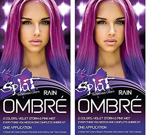 Splat Rebellious Colors Hair Coloring Complete Kit Rain Ombre (2PCS) by Splat