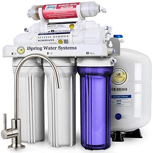 iSpring RCC7AK 6-Stage Under-Sink Reverse Osmosis Drinking Water Filtration...