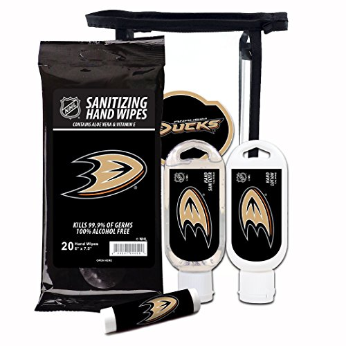 Worthy Promotional NHL Anaheim Ducks 4-Piece Gift Set with SPF 15 Lip Balm, Sanitizer, Wipes, Hand Lotion