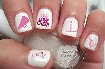 Amazon 40 cheer cheerleading nail art designs decals beauty 40 cheer cheerleading nail art designs decals prinsesfo Images