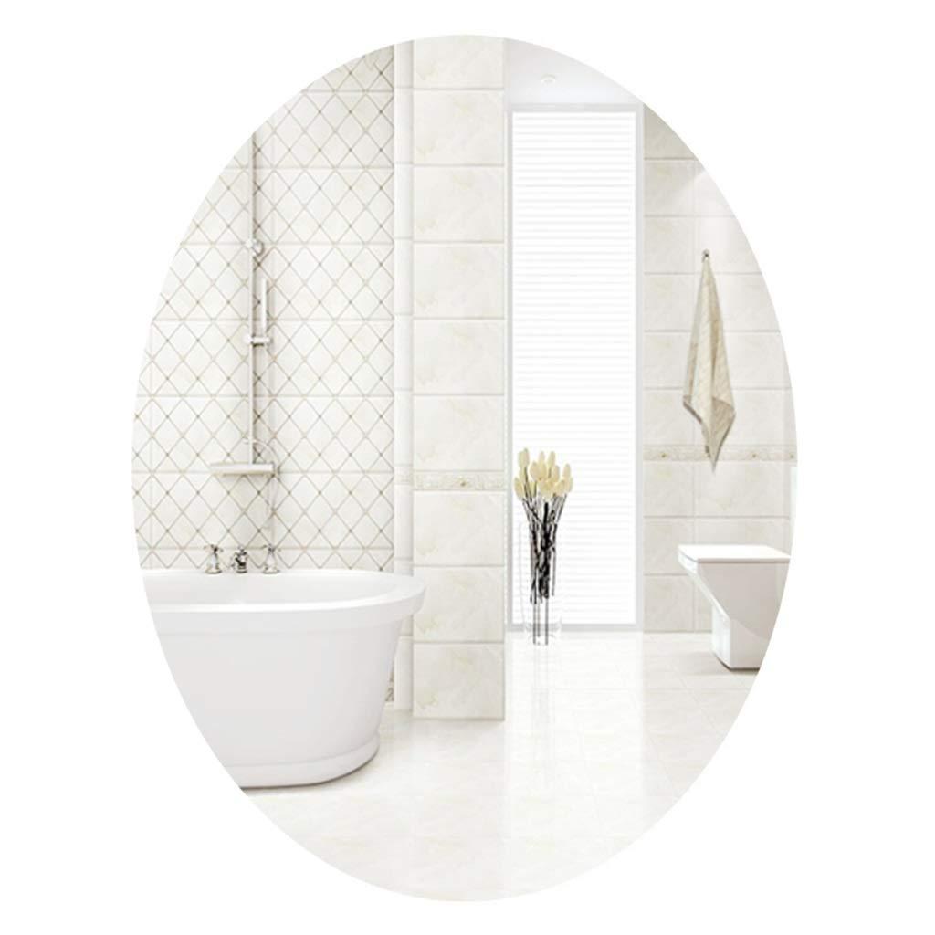 70cmx50cm Bathroom Oval Frameless Mirror Wall Mirror   Vanity Bedroom Mirror Entry Parlour, Dining Room, Living Room   Shaving Mirrors Large Dressing Mirror