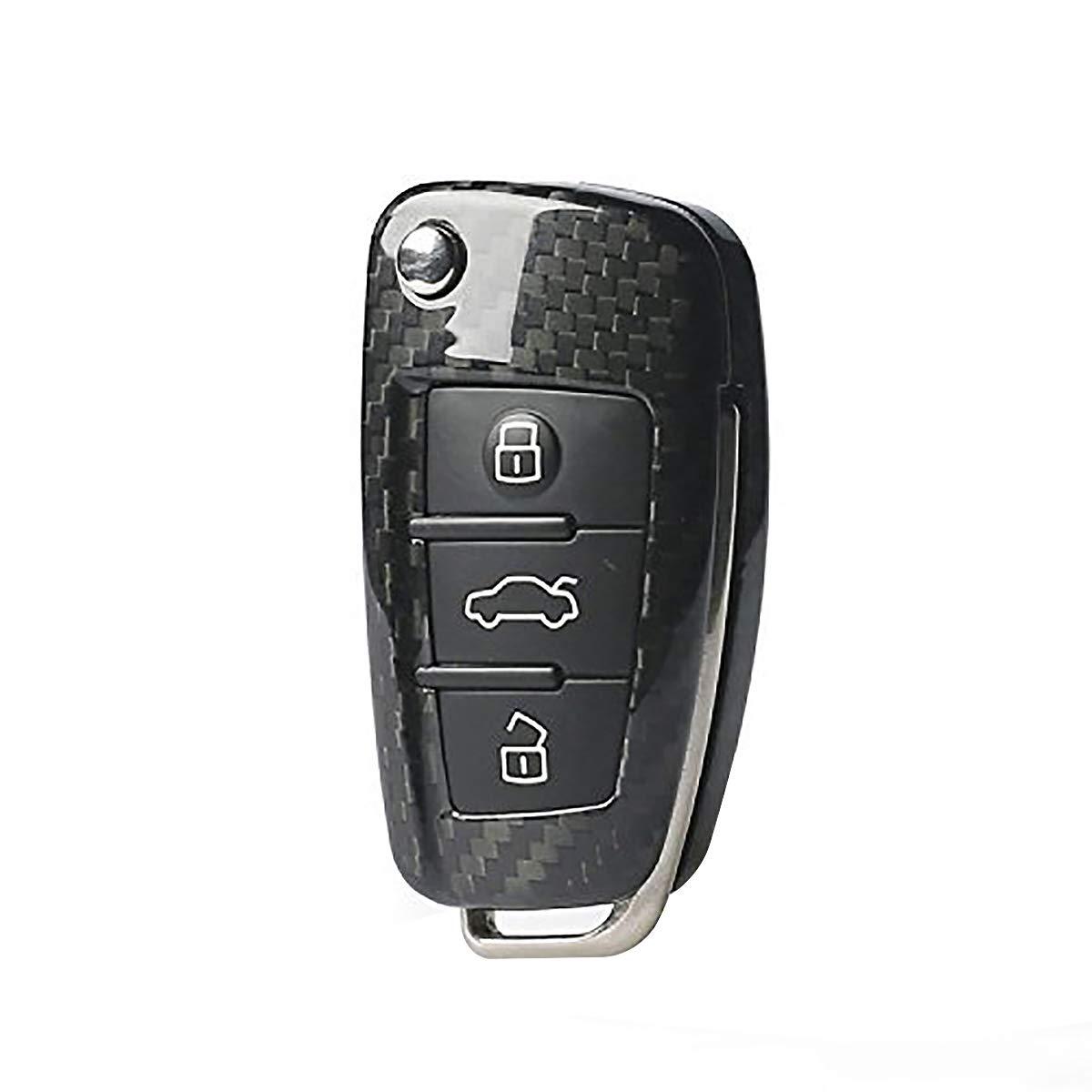 Funda protectora T-Carbon para mando a distancia 3k de Audi A1 A3 A4L A6 Q3 Q7 TT S3 S6 Q3
