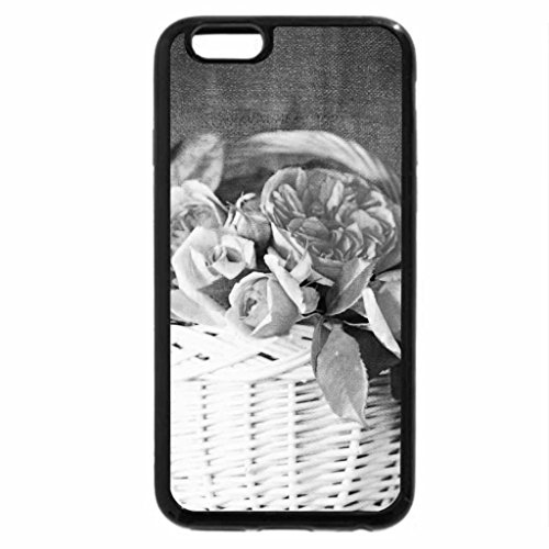 iPhone 6S Case, iPhone 6 Case (Black & White) - Flowers in white basket