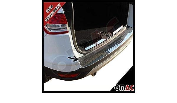 OMAC - Parachoques trasero para FORD KUGA II (cromado, acero inoxidable): Amazon.es: Coche y moto