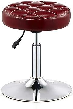 Ylcj Bar Krukken Ronde Stoel Pu Verstelbare Gas Lift Swivel Seat Hoogte 40 55 Cm Voor Keuken Ontbijt Bar Krukje Chroom Basisplaat Max Laad 150 Kg In Donkerrood Amazon Nl