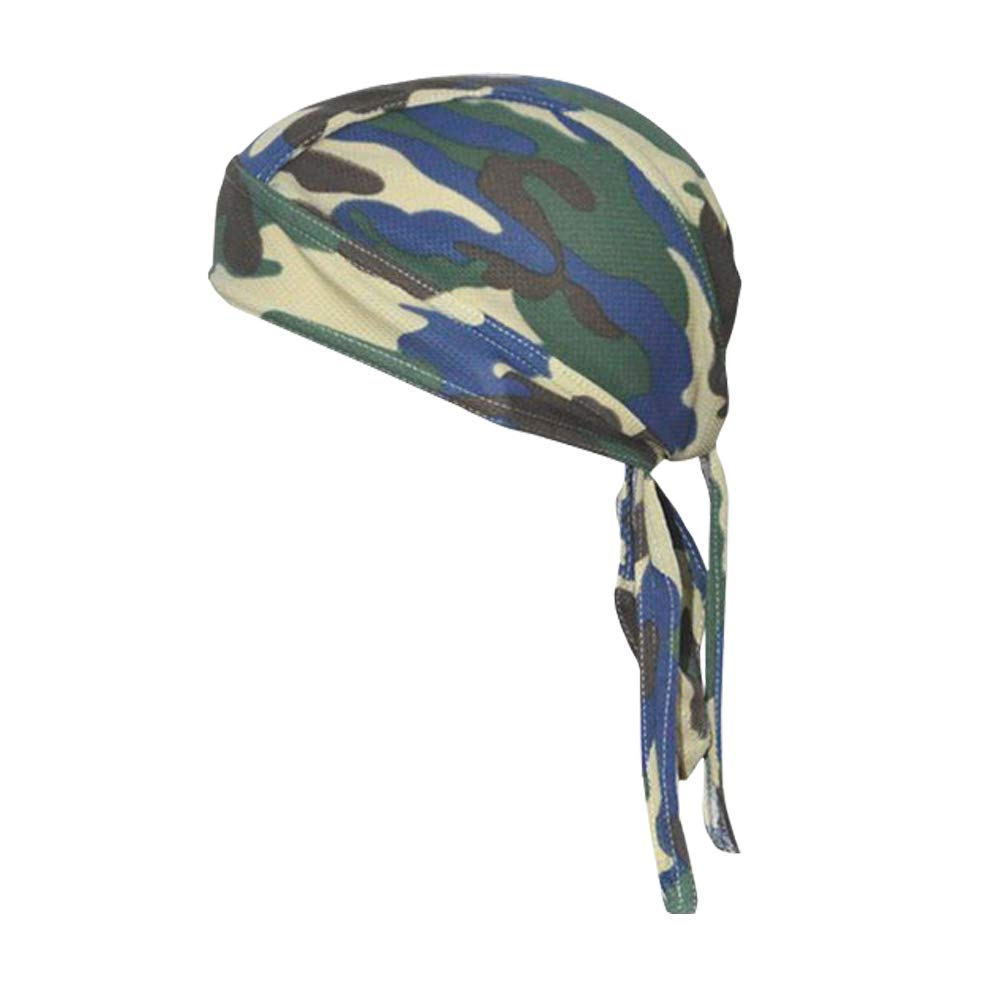 QING Sweat Wicking Beanie Cap Hat Chemo Cap Skull Cap for Men and Women (Camouflage Green 1 Pack) by QING