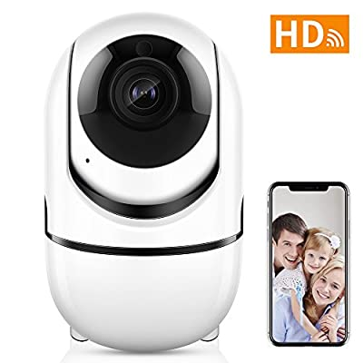 Wireless Security WiFi Camera,ANBAHOME IP Camera for Home Security Surveillance Baby/Pet Monitor with PTZ Two Way Audio Motion Detection Night Vision. iOS, Android App