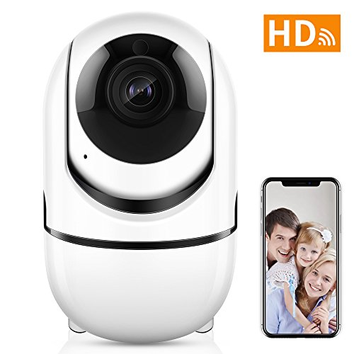 Wireless Security WiFi Camera,ANBAHOME IP Camera for Home Security Surveillance Baby/Pet Monitor with PTZ Two Way Audio Motion Detection Night Vision. iOS, Android App Motion Compact Audio
