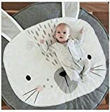 QXMEI Children Crawling Mat Baby Room Decoration Cushion Cartoon,Gray