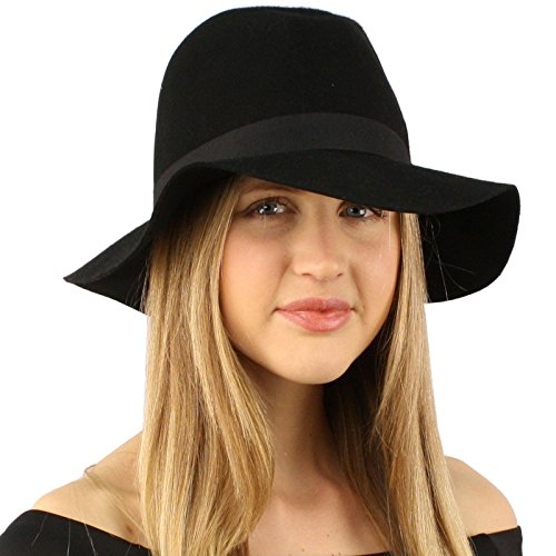 Winter Wool Felt Fedora Tribly Floppy 2-1/2