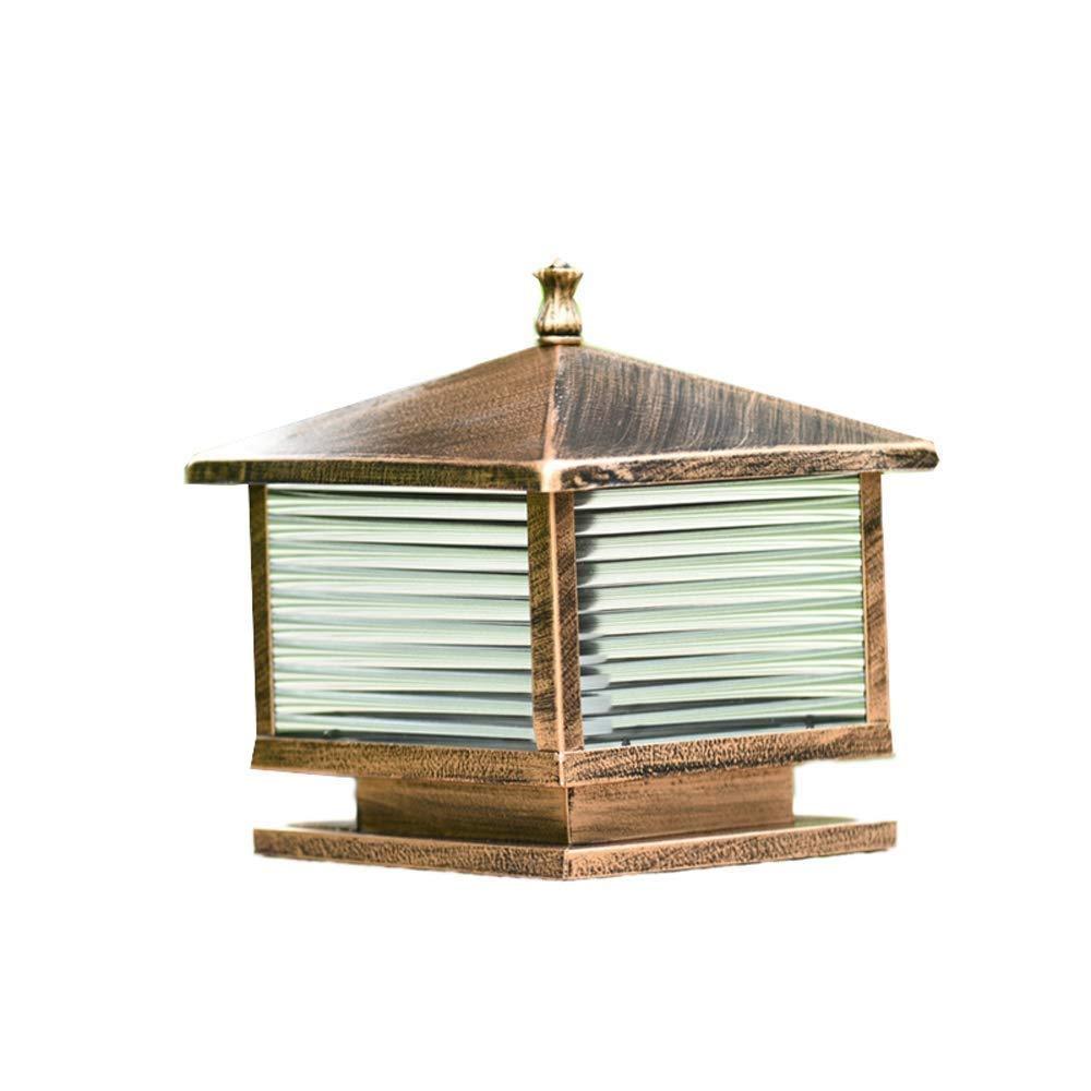 Ououy ランプポストピラーライトコラムランプ屋外ガーデンランプポストアンティークブロンズさび塗装(サイズ:40 * 40 * 36 cm)超明るい 品質保証 B07S3W92WV