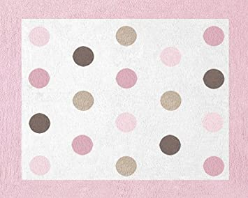Superb Pink And Brown Mod Dots Accent Floor Rug