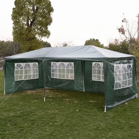 Safstar Canopy Tent Gazebo Pavilion Cater for Event Party Wedding Heavy Duty with Sidewall, Green, 10ft X 20ft
