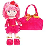 GirlznDollz Leila Sparkle Dancer Doll with Purse, Hot Pink/Gold