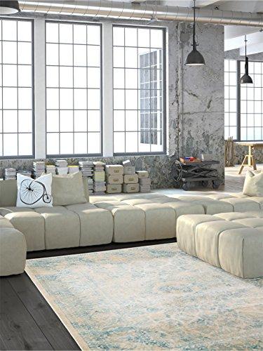 benuta Teppiche: Moderner Designer Orientteppich Vintage Cream 140x200 cm - schadstofffrei - 100% Polypropylen - Vintage / Patchwork - Maschinengewebt - Wohnzimmer