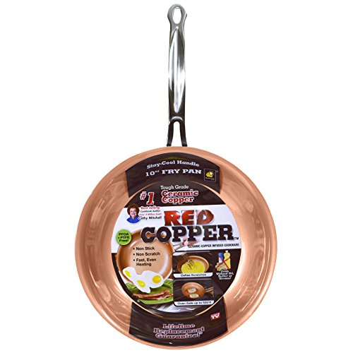 Red Copper 10 inch Pan by BulbHead