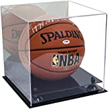 Better Display Cases Deluxe Acrylic Basketball Display Case with Black Risers and Mirror (A001-BR)