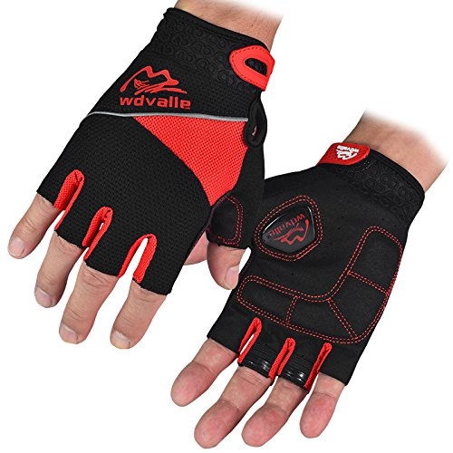 Wdvalle Cycling Gloves for Men's Bike Bicycle Gel Pad Half F