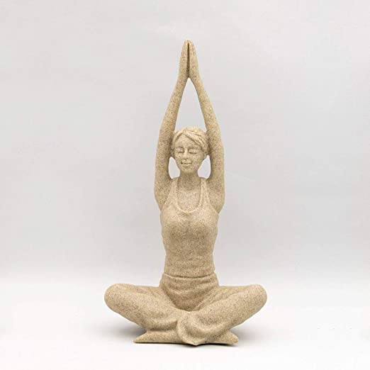QWERWEFR Arte Abstracto Posturas de Yoga Estatuas de Piedra ...