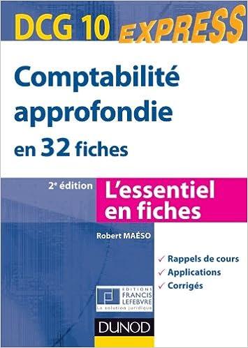 Comptabilité approfondie DCG 10 - 2e édition - en 32 fiches pdf ebook