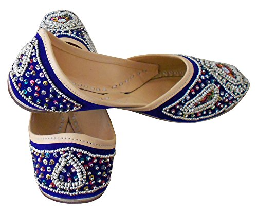 Creations Kalra Mocasines Azul Para Mujer 1FdqFw