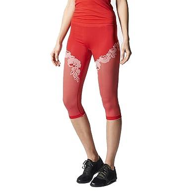 31be0dfe17c13 adidas Stella McCartney Yoga 3/4 Seamless Leggings RED Floral Luxury  S87807: Amazon.co.uk: Clothing