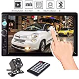 FidgetFidget Car in-Dash Bluetooth Stereo 7'' Radio Auto MP5 MP3 Player FM USB/AUX/TF +Camera