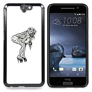 For HTC ONE A9 - Pin Up Zombie /Modelo de la piel protectora de la cubierta del caso/ - Super Marley Shop -