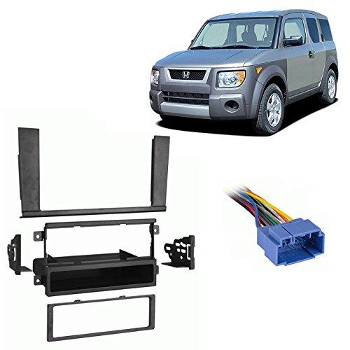 Fits Honda Element 2003-2004 Single DIN Stereo Harness Radio Install Dash -