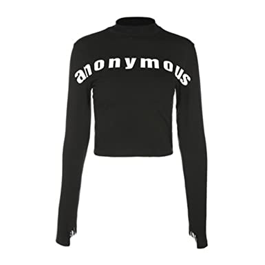 Yuehen Winter Women Fashion Letter Print Cropped Sweatshirts Long Sleeve Black Pullovers Feminino Casual Crop Tops