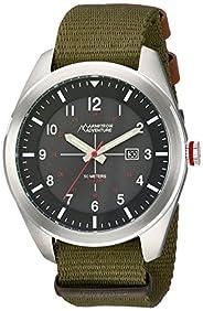 Armitron Adventure Men's AD/1001BKSVGN Solar Powered Date Function Dial Army Green Nylon Strap Watch