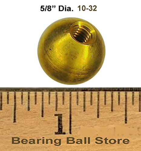 81 5/8'' dia. threaded 10-32 brass balls drilled tapped lamp finials by Bearing Ball Store