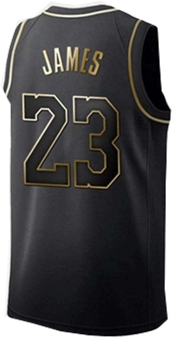 N//G Camiseta de Baloncesto para Hombre Talla; S-2XL Camiseta de la Lakers # 23 Chaleco sin Mangas Transpirable Fitness Ropa Deportiva Uniforme de Baloncesto Regalos para fan/áticos