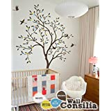 "Baby Nursery Tree Wall Decal Wall Sticker - Tree Wall Decal - Tree Decals - Large: approx 85"" x 54"""
