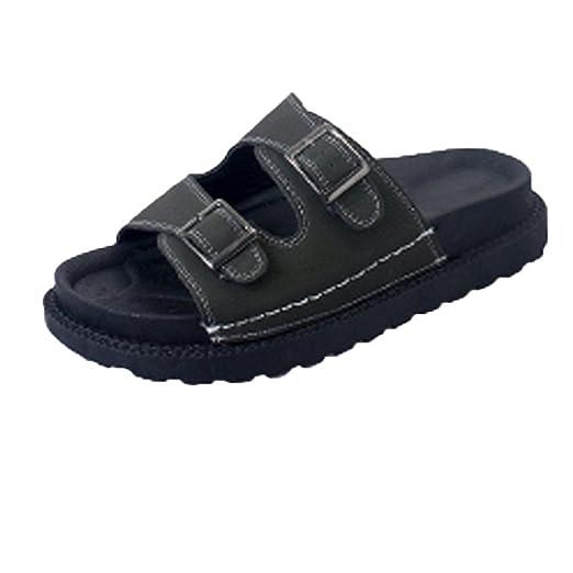 Chanclas Mujer Verano,YiYLunneo Zapatos Bio Life Zapatillas Mujer Mulas Zapatilla Sandalias Zapatos Gruesos: Amazon.es: Ropa y accesorios