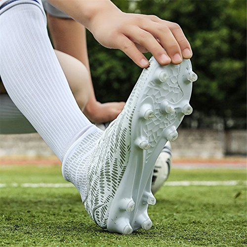 Scurtain Youth & Men Hoge Top Spike Voetbalschoen Schoenplaten Sport Atletische Outdoor Training Voetbalschoenen Wit