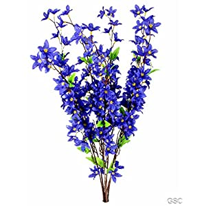 Admired By Nature 7 Stems Artificial Star Flower Bush for Home 112