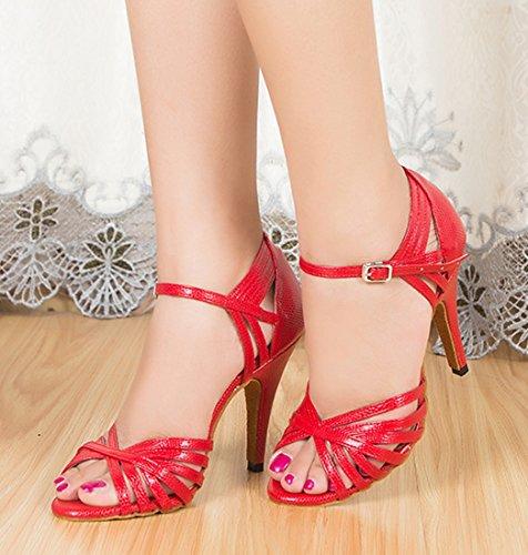 Abierta Material Joymod 5cm Sintético Red Punta MGM de Mujer Heel 8 aqRwwfOg