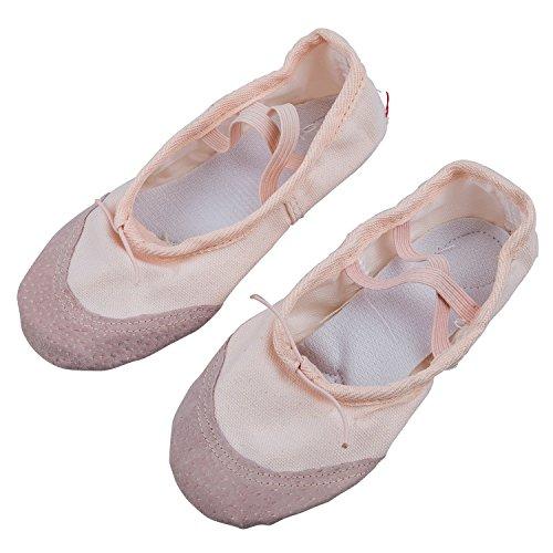 Chaussures de ballet - TOOGOO(R) Chaussures de danse de ballet elastique pour filles Rose Taille 13