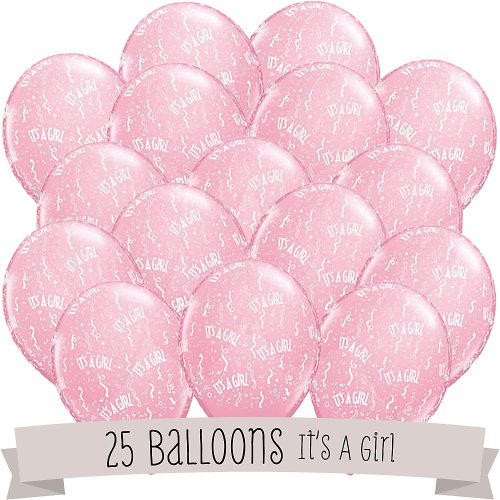 It's A Girl! - Baby Shower Balloons - 25 (Baby Shower Decorations Girls)