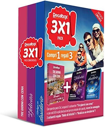 Regalbox – Pack 3 x 1 tres días con cena – 3 Pack experiencia: Amazon.es: Deportes y aire libre