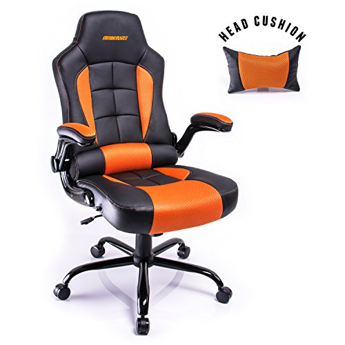 Aminiture Reclining Racing High Back PU Leather Swivel