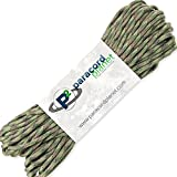 Paracord Planet 100' Hanks Parachute 550 Cord Type III 7 Strand Paracord Top 40 Most Popular Colors (Multi Camo)