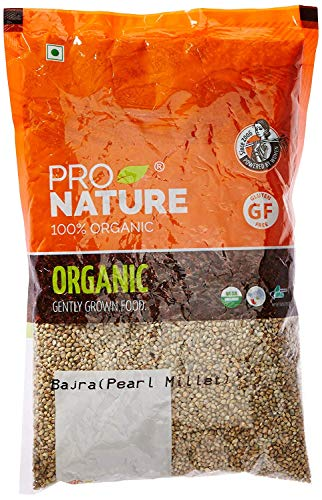 Pro Nature 100% Organic Bajra (Pearl Millet), 500 g by Hindustan Mart