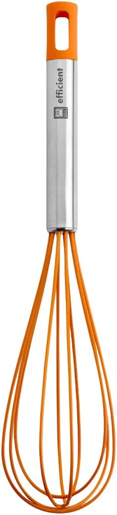 BRA Efficient Batidora de Cocina, Acero INOX, Nailon y Silicona, Naranja, 31 cm